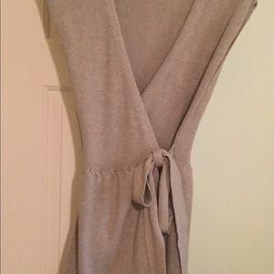 Anthro Sparrow Mini Wrap Sweater Dress Size M